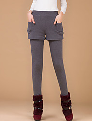 Women's Yellow/Gray Skinny Pants , Vintage/Bodycon/Casual/Cute/Work