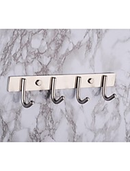 towel hooks,set of 4  Contemporary Brushed Stainless steel Wall  Mounted