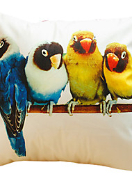 Parrot Cotton Decorative Pillow Cover