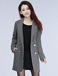 mince manteau pied de poule tranchée de skymoto®women