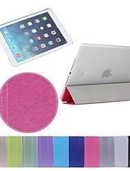 impresión de seda plegado triple de cuero de la PU más sencilla pc caso del soporte para el ipad de aire 2 (color clasificado)
