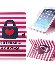 Love Pattern Design PU Full Body Case with Stand for iPad 2/3/4