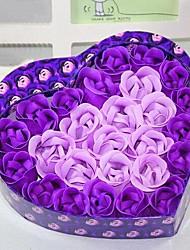 26 Rose Heart Shaped Essential Oil Rose Soap Flower for Body