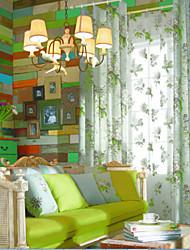(due pannelli) classico bella campagna luce floreale vintage curtain risparmio energetico