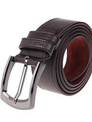 POUCH KAN®Men's Fashionable Head Layer Cowhide Leather Zinc Alloy Buckle Belt
