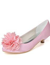 Women's Wedding Shoes Round Toe Heels Wedding/Party & Evening Black/Blue/Pink/Ivory/White