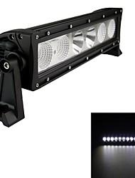Type 60w / h combo 6000k 6 LED Cree barre unique lumière de travaux de bricolage utilisé en voiture / bateau / phare automatique