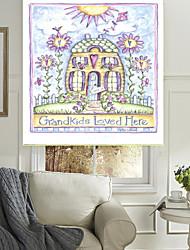 Beautiful Flower House Roller Sahde