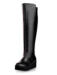 botas de salto sapatos qq forma de cunha das mulheres mais cores disponíveis
