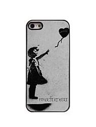 caso de telefone personalizado - coração do vôo caso design de metal para iPhone 5 / 5s