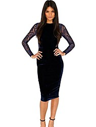 Women's Party Evening Lace Patchwork Bandage Mini Dress
