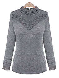 WeiMeiJia Women's Casual/Lace Long Sleeve Stand Sweaters(Knitwear)