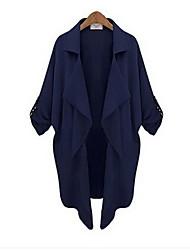 Women's Fashion New European Fashion Simple Causal Large Yard Windbreaker Coat