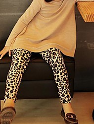 Girl's Multi-color Pants / Leggings,Leopard Cotton Winter / Spring / Fall