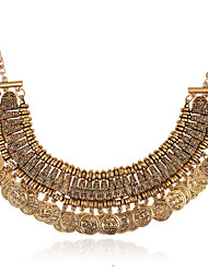 Vintage/Party/Work/Casual Gold Plated Statement