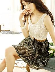 Sweet Style Splicing Charming Sleeveless Dress