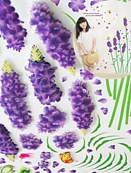3D Wall Stickers Wall Decals, Romantic Lavender PVC Wall Stickers