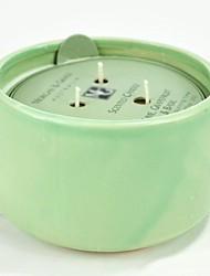 aromall® soja Bougie parfumée 450g chaux pamplemousse&lumière de basilic grean céramique 45hrs porte-gobelet temps de combustion
