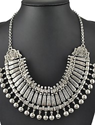 Luxurious Metallic Alloy Plating Ancient Silver Necklace Restoring Ancient Ways