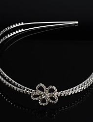 banda de plata de la moda de diamantes de imitación de cristal enchapado boda del arco diadema nupcial pelo tiara
