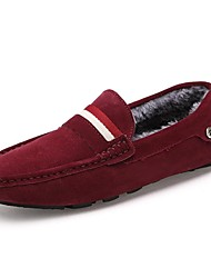 Men's Shoes Casual Calf Hair Loafers Burgundy