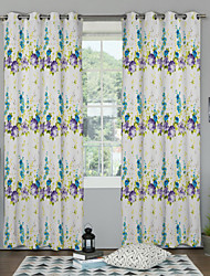 Country Elegant Colorful Floral Curtain (Two Panels)