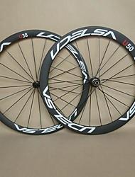 udelsa 23mm large carbone directement roues en carbone hubs de traction arrière tubulaire 38mm avant 50mm vélo roues r36 f: 20h r: 24h