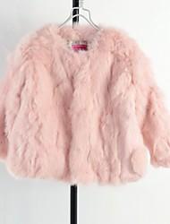 estilo ocidental casacos de peles de moda de luxo da menina