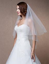 véus de noiva redondo uma camada