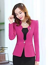 Women's Pink/Black/Purple Blazer , Casual/Work Long Sleeve