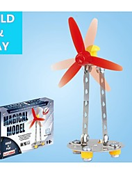 Magical Model DIY Intellectual Development Stainless Alloy Assembled Windmill Toy(33 PCS)