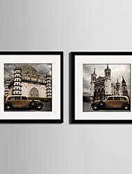 Arquitetura Quadros Emoldurados / Conjunto Emoldurado Wall Art,PVC Preto Cartolina de Passepartout Incluída com frame Wall Art