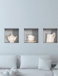 3d Gitter Keramik-Wandaufkleber Wandaufkleber