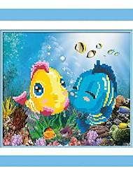 DIY Wall Art Wall Decor ,Cartoon Style Fish Fabric 3D DIY Diamond Painting Wall Decor Set of 1