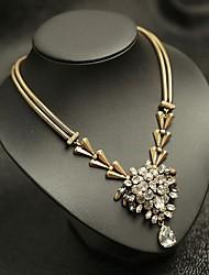 moro europeo hecho a mano del estilo de tejer diamonade corto tipo necklace_necklace: 40 + 5 cm # n0098