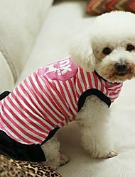 Pink Dog Stripe Pattern Pure Cotton Dresses for Dogs (XS-L)