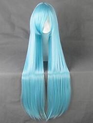 espada de arte en línea Yuuki Asuna azul ver. peluca cosplay