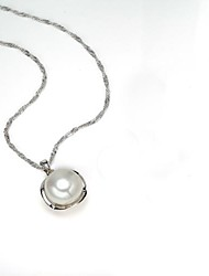 AS 925 Silver Jewelry   White Shell Pearl Necklace