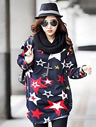 Modelo de estrella camiseta floja de las mujeres