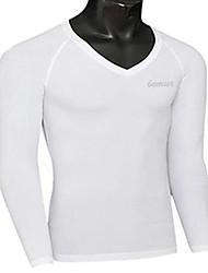 Herren T-shirt-Einfarbig Sport Polyester Lang-Schwarz / Blau / Weiß
