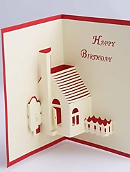 House Dimensional Birthday  Card