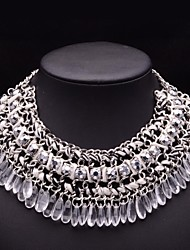 JQ Jewelry Women's Bohemia Water Drop Crystal Beads Weave necklace
