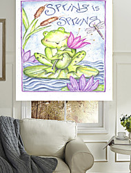 Frog And Flowers Roller Sahde