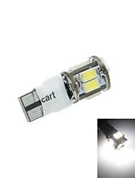 t10 levou 2-mode branco 5W 11x5630smd 400-550lm 6000-6500k para a luz do sinal de estacionamento (dc12-16v)