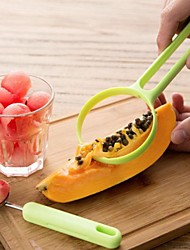 New Functional Plastic And Stainless Steel 2in1 Cantaloupe Peeler Fruit Cutter Dig Flesh Set Kitchen Knife