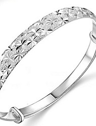 Ladies' Silver Round Bangles
