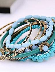 z&X® multicamadas elegan coloridas pulseiras vertentes definidas (9 pcs por conjunto, 3 opções de cores, azul, vermelho, roxo)