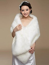 Wedding Wraps Faux Fur Warm Bridal Wedding Shawls