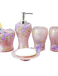 banho conjunto de acessórios, porta-escovas tumbler contemporânea ajuste 5 peça