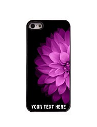 Personalized Phone Case - Half of The Pink Flower Design Metal Case for iPhone 5/5S
